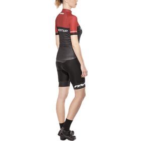 Bikester Pro Race Set d'autocollants Femme, black-red